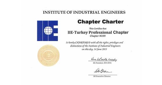 Dr. Hakan Bütüner, Uluslararası Endüstri Mühendisleri Enstitüsü (IIE) - Türkiye Profesyoneller Kısmının Kurucu Başkanı oldu.